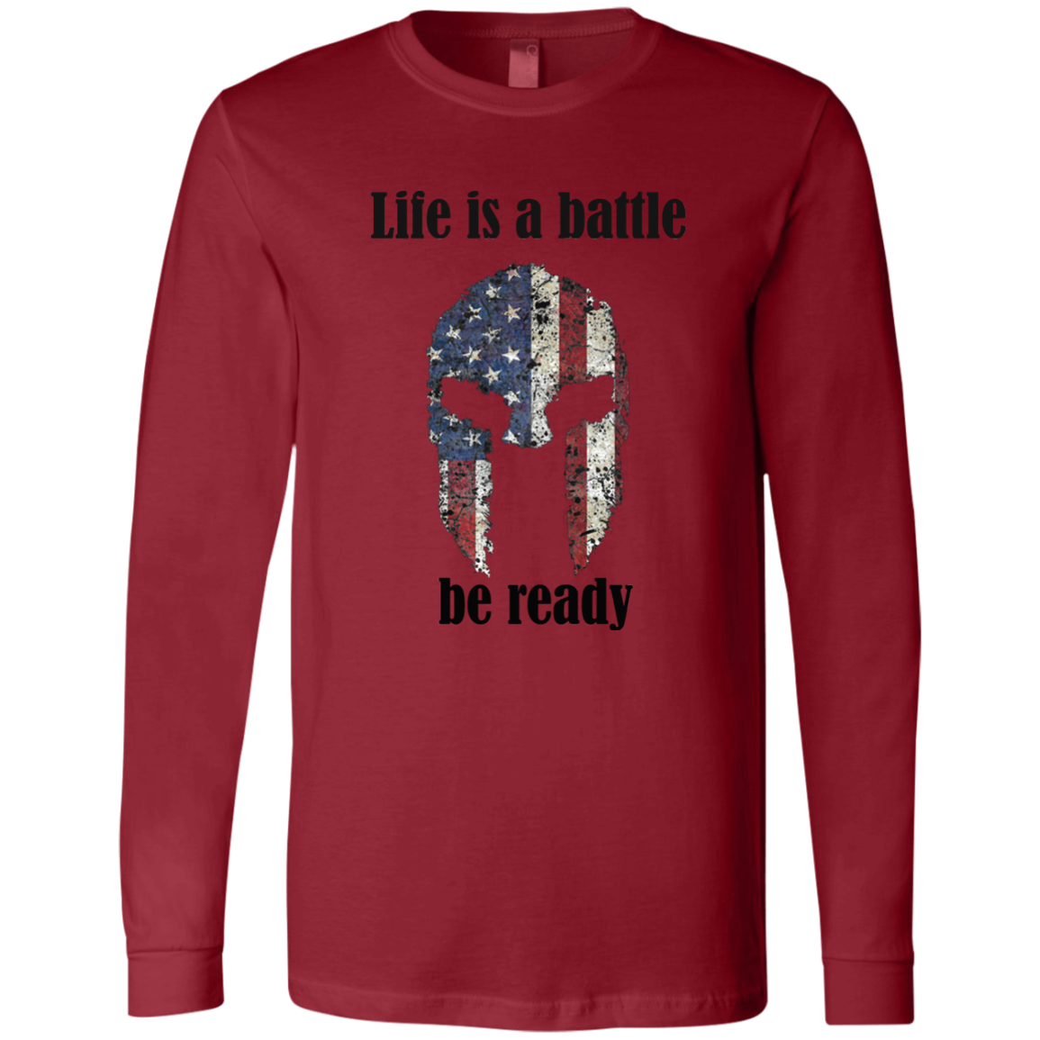 Battle Bella + Canvas Men's Jersey LS T-Shirt