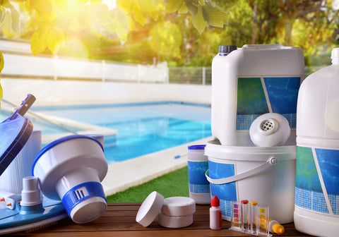 Swimming pool supplies and chemicals