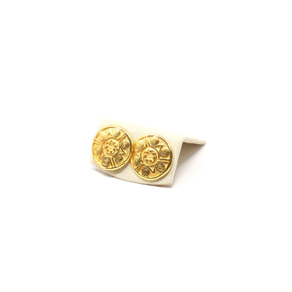 Golden Coin Studs