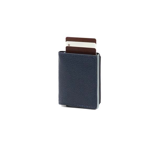RFID Blocking Card Case Wallet - Blue Corrugated