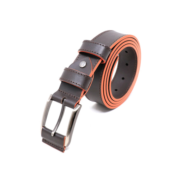 Burnished Smooth Leather Belt