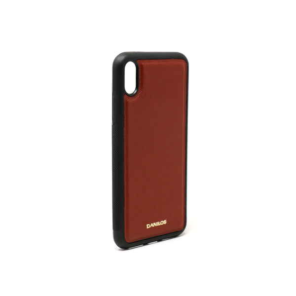 Iphone X Plus Leather Case - Brown