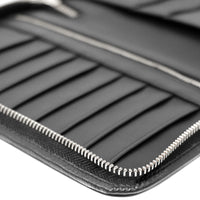 Double Zip Alfaro Organizer - Black Corrugated & Black Napa