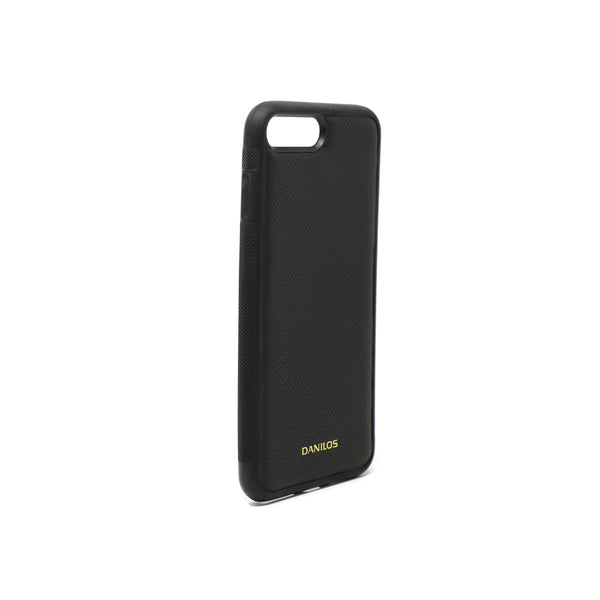 Iphone 7 Plus Leather Case - Corrugated Black
