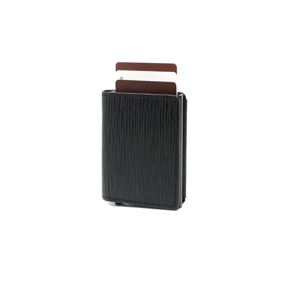 RFID Blocking Card Case Wallet - Black Napa & Black Epi