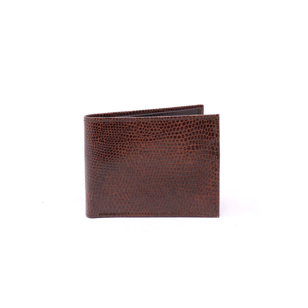 Exotic Brown Double Billfold Wallet