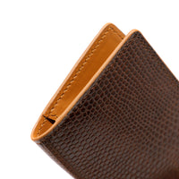 Minimalist Card Wallet - Brown & Tan exotic
