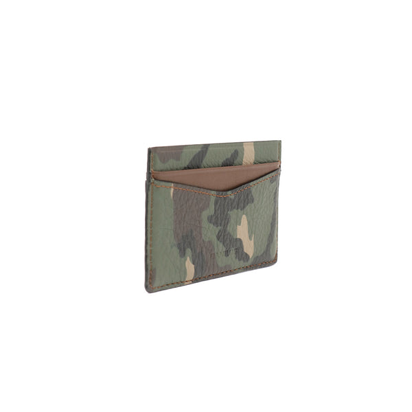 Patrick Card Holder - Camo With Brown