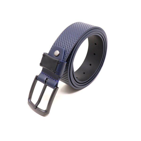 Pebble and Burnished Smooth Leather Belt