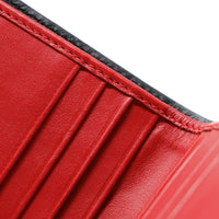 Slim Andre Billfold LUX - Black & Red