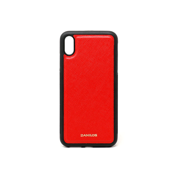 Iphone X Plus Leather Case - Red