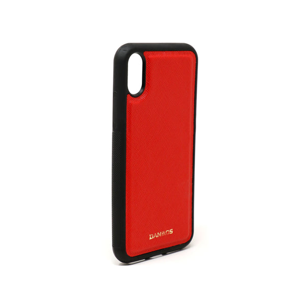 Iphone X Leather Case - Red