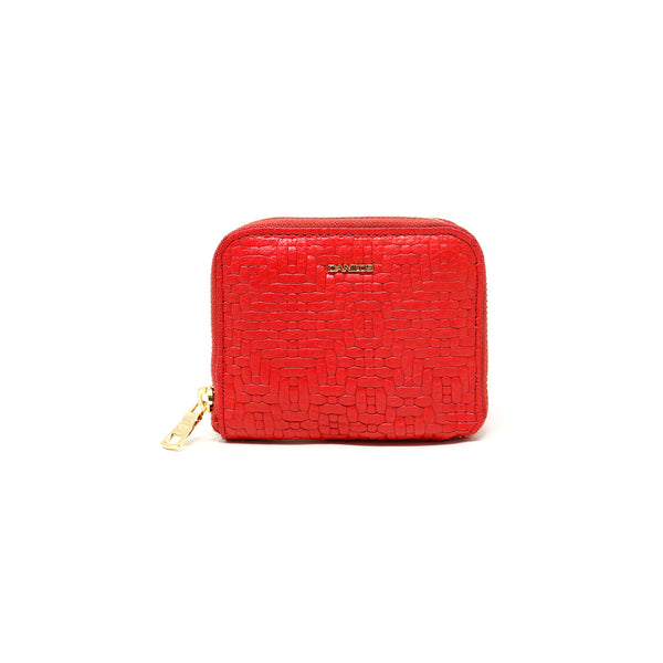 Zip-around Zurich Wallet - Woven red