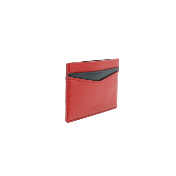 Patrick Card Holder - Napa Red with Black