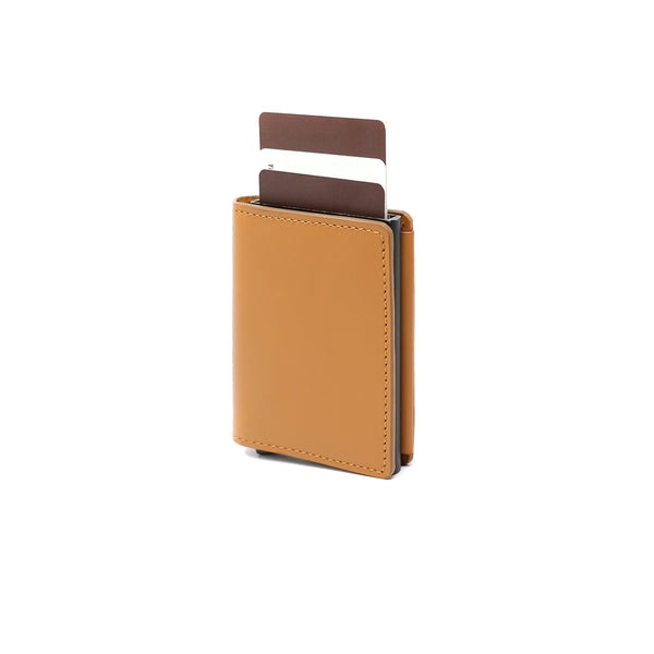 RFID Blocking Card Case Wallet - Tan Napa