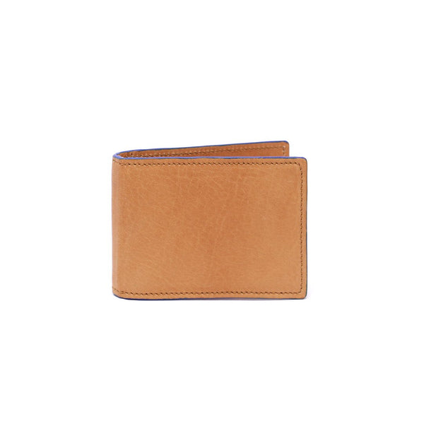 Tan Vintage w/ Blue Steven Money Clip