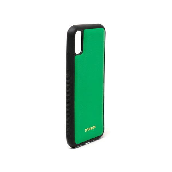 Iphone X Leather Case - Green