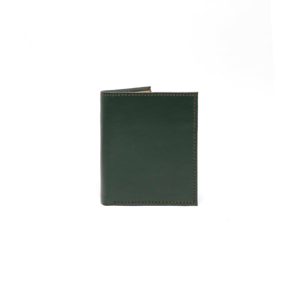 Slim Andre Billfold LUX - Green & Tan