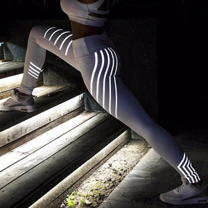 Night Glowing Rainbow Reflecting Leggings - BonjourFit