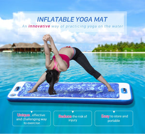 Inflatable Floating Yoga Mat - BonjourFit