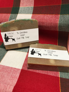 """A Christmas Wish"" Goat Milk Soap"