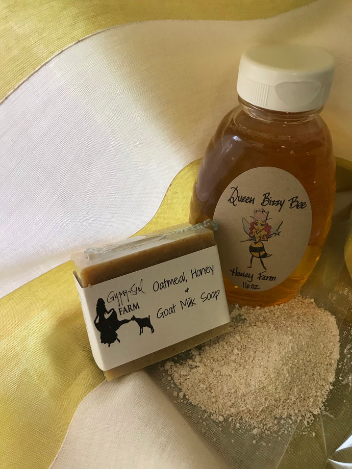 Oatmeal, Goat Milk & Honey Soap (Unscented)