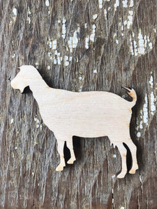 Unfinished Wood Goat Cutouts