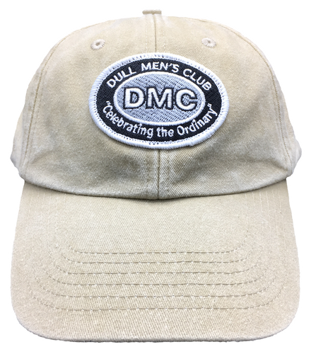 Dull Men's Club Embroidered Logo Cap Beige