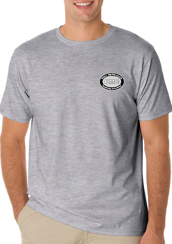 Dull Men's Club Logo T-Shirt Grey