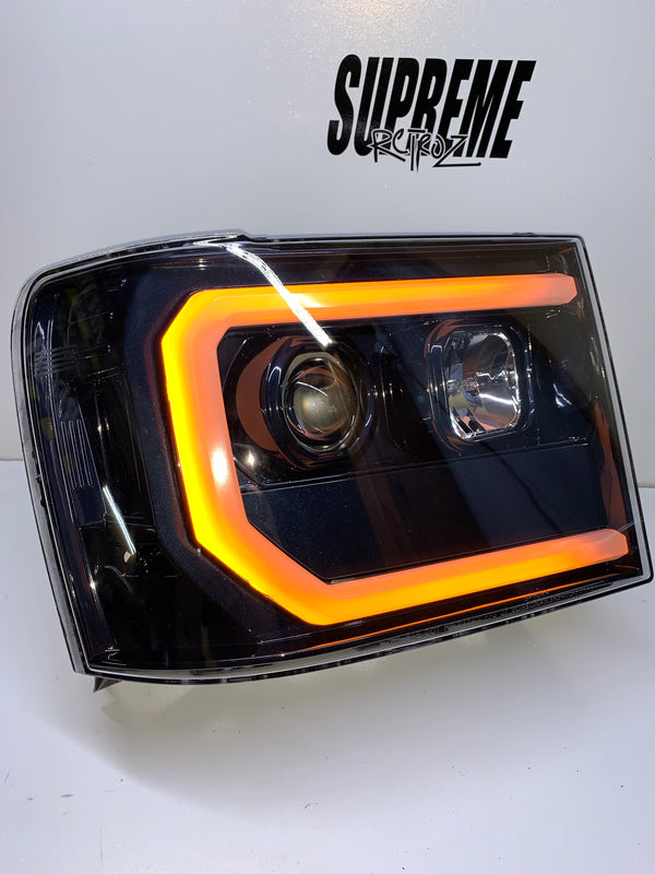 2007-2013 GMC Sierra Spyder Headlight Build