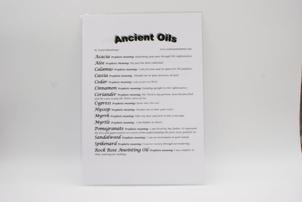 Ancient Oils Prophetic Pamphlet