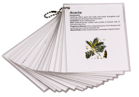 Set of Cards with Info For Individual Oils