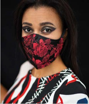 Rose Ruby Face Mask 3 Ply