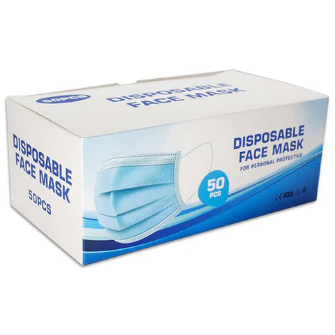 Face Masks Disposable 3Ply 50's
