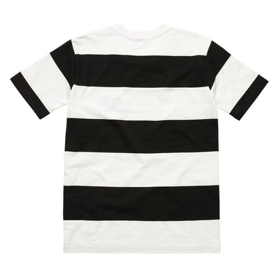 LIFE AFTER DEATH STRIPED TEE BLACK WHITE Tee LAD Life After Death