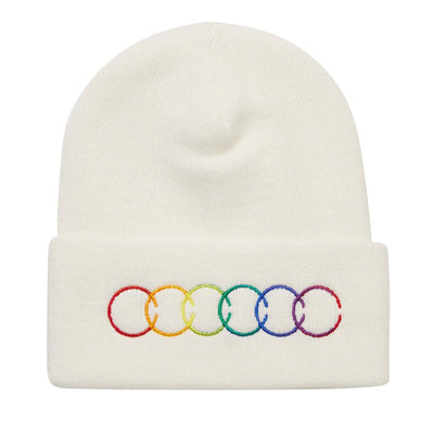 LC COLOURS BEANIE WHITE HAT LC