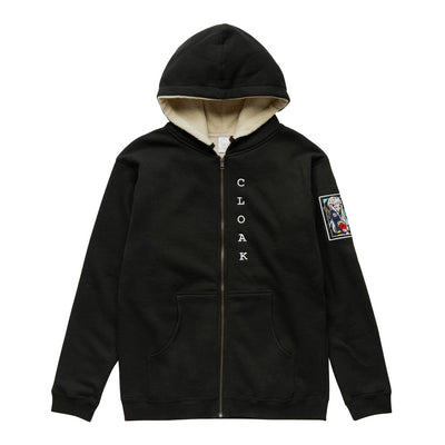 SLS ETERNAL WARRIOR SHERPA HOODIE BLACK WHITE Hoodie SLS Self Love Story