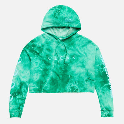 LYM NO 3 CROPPED HOODIE EMERALD CRYSTAL CLOAK LYM
