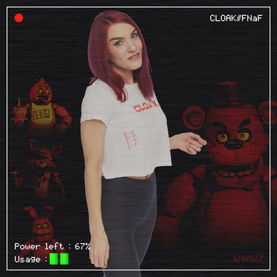 FNaF MOST WANTED CROP TEE WHITE Tee FNaF2