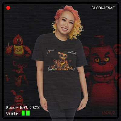 FNaF NOTHING GOLD TEE BLACK Tee FNaF2