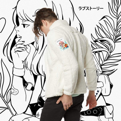 SLS LOVESTRUCK SHERPA FULL ZIP WHITE Jacket SLS Self Love Story