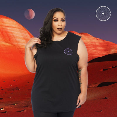 OT APOLLO 11 MUSCLE TEE BLACK Tee OUT THERE