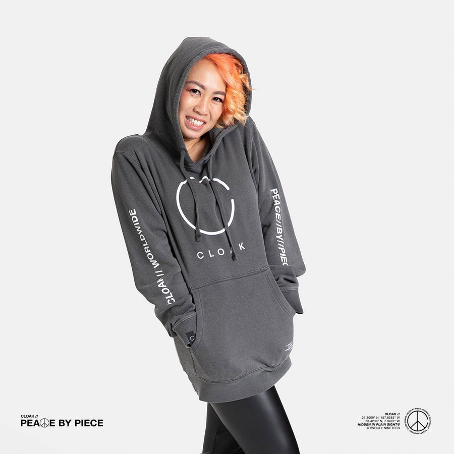 Peace by Piece Big C Hoodie Black Cloak-Peace