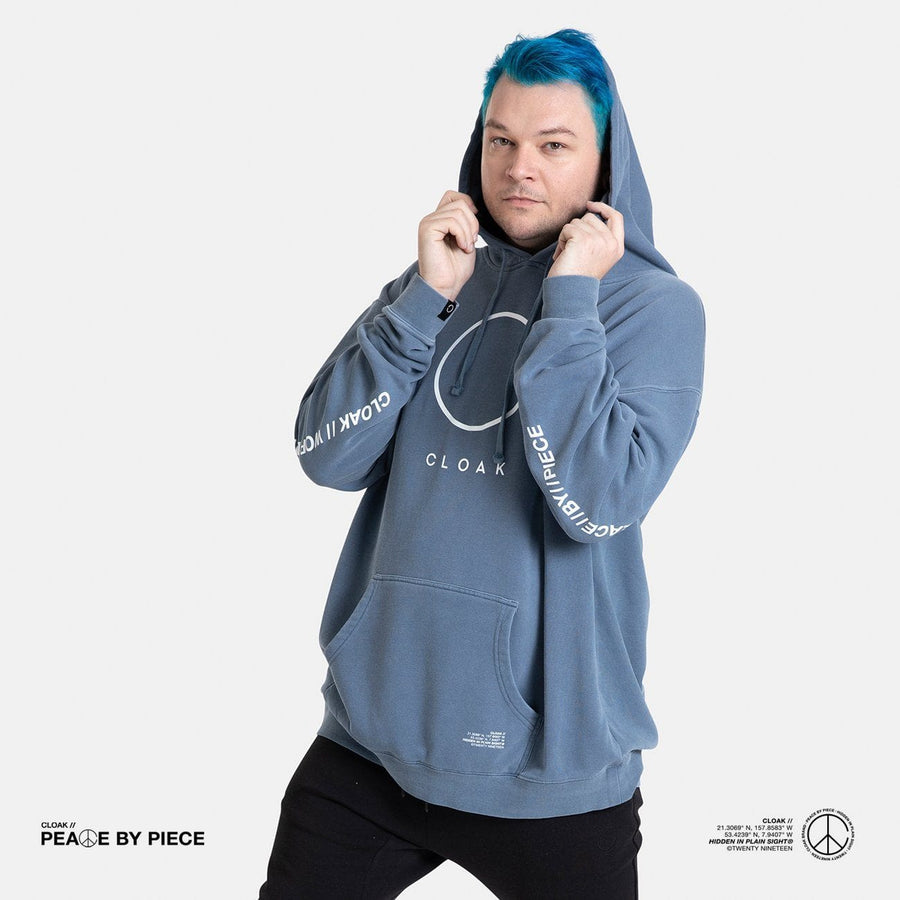 Peace by Piece Big C Hoodie Blue