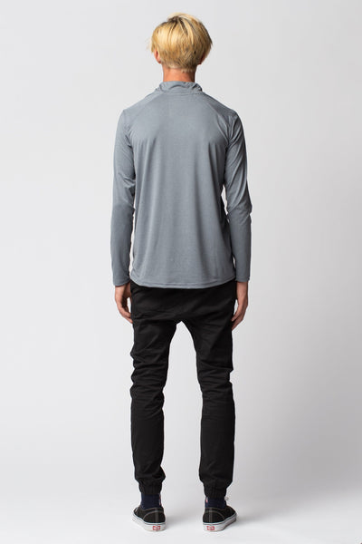 Cloud Tech Quarter Zip Long Sleeve LS Tee Cloak