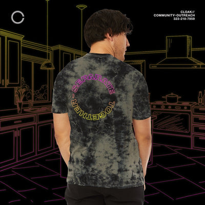ST CONNECTED TEE BLACK CRYSTAL CLOAK ST