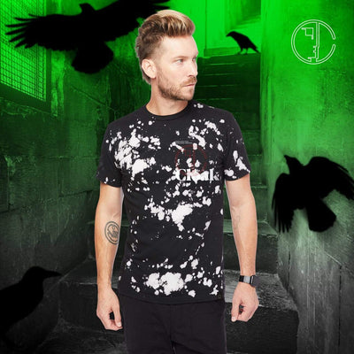 NM RAVEN TEE BLEACH BLACK Tee NEVERMORE