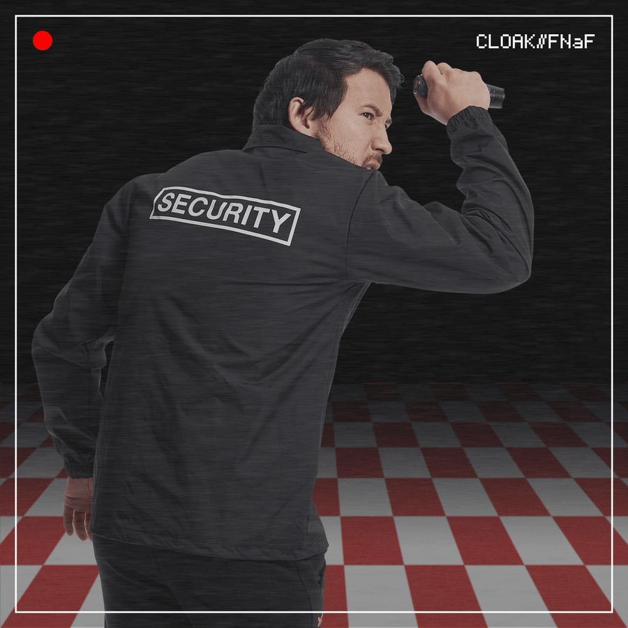 FNaF GANG SECURITY JACKET BLACK CLOAK FNaF