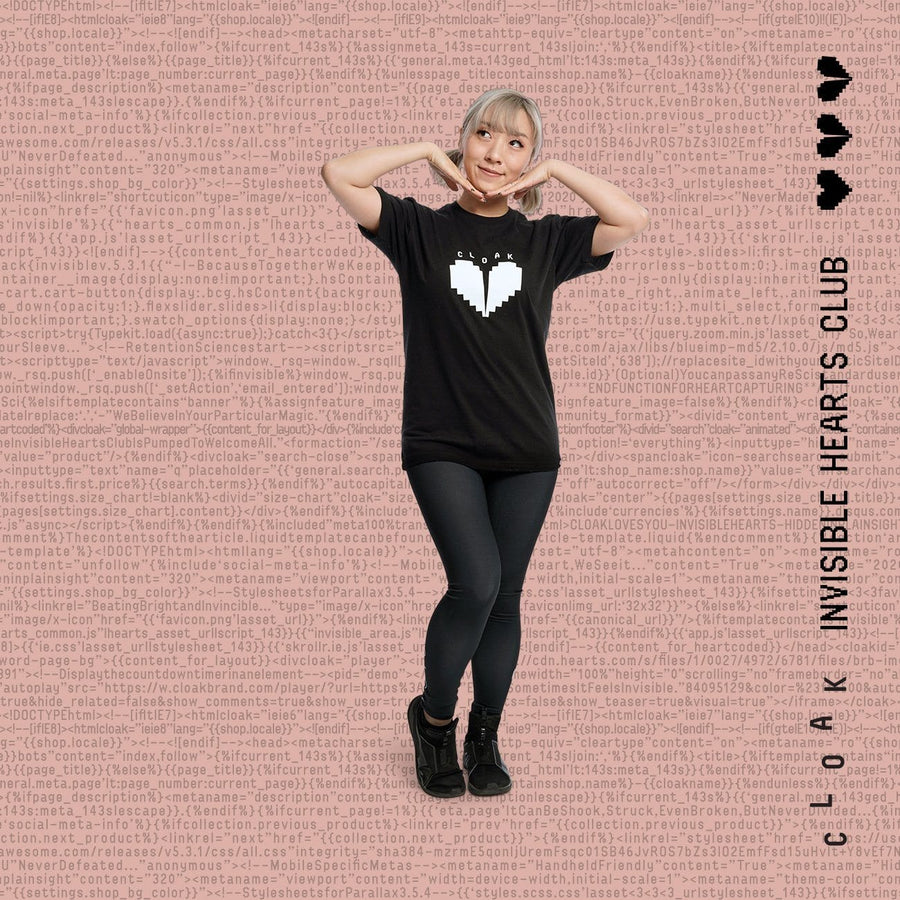IHC Heart Leggings Black