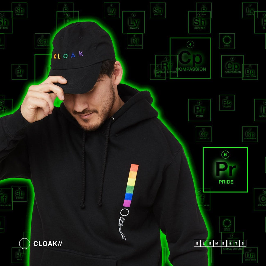 ELEMENTS PRIDE HAT BLACK